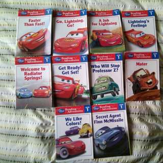 Disney Cars Reading Adventures Level 1 Complet e Set of 10 books
