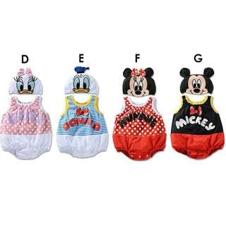 MICKEY MOUSE/MINNIE MOUSE/ DAISYDUCK /DONALD DUCK COSTUME FOR BABY