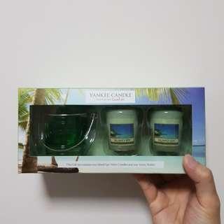 Yankee Candle Gift Set - Island Spa Votive Candles & Votive Holder