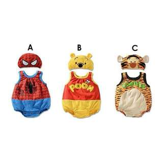 SPIDERMAN/WINNIE THE POOH/TIGER COSTUME GOR BABY