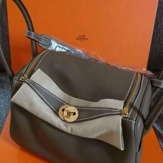 Hermes Lindy 26 etoupe GHW