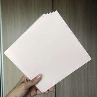 Pink square envelopes