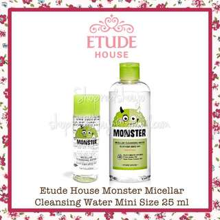 Etude House Monster Micellar Cleansing Water 25 ml