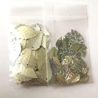 leaf confetti set