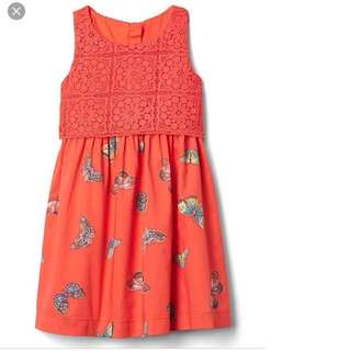 BN GAP Baby Girl Crochet Blood Orange Butterfly Dress 12-18mths & 18-24mths available!