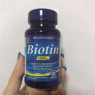 Holland & Barett Biotin 1000mcg
