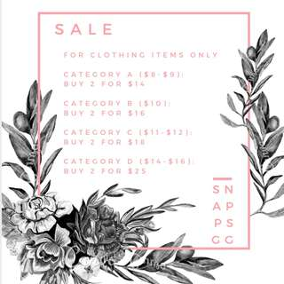 SALE (Special Prices)