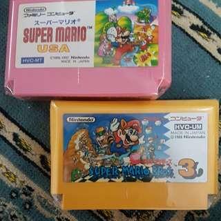 Original Super Mario 3 & USA Famicom Cart