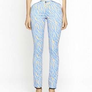 C&M by Camilla and Marc Garage Jeans Blue Tiger Print