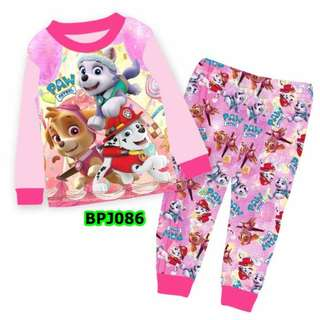 Paw patrol pink sleep wear set