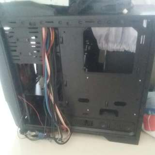 Pc Case With Parts And Wires