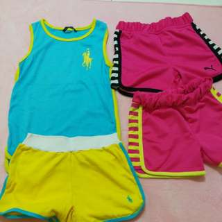 Used Sports Wear for girl age 3-6 years