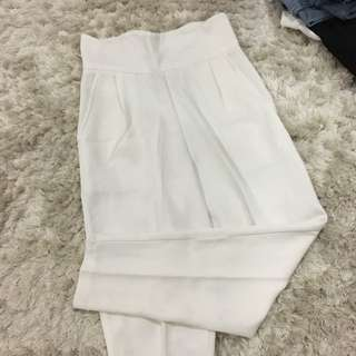 Scallop High Waist Pants