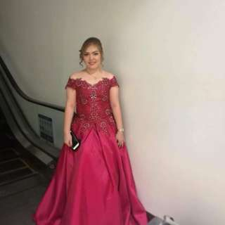 Maroon Ball Gown for Rent