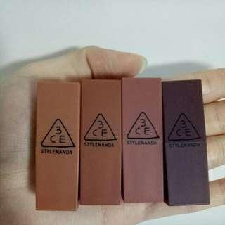 3CE Matte Lipstick(mini)