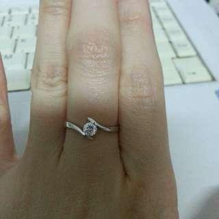 謝瑞麟TSL 18k白金鑽石戒指