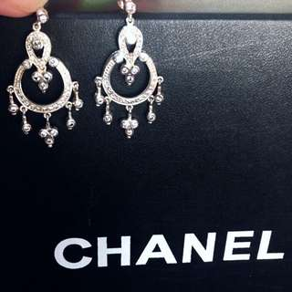 925 sterling silver small chandelier fancy drop earrings cubic zirconia