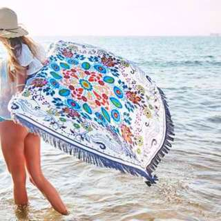 Round Beach Towel Floral