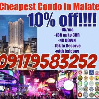 Cheapest condo in Manila and Malate area