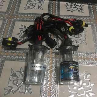 H4 Hid bulbs 8000k