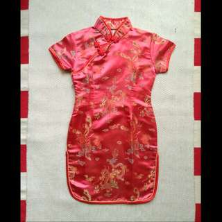 Red Cheongsam Anak 6-7th  #CNY2018