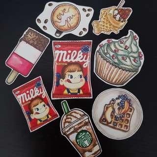 Cutify Snacks Stickers...