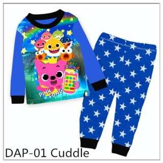 Baby shark blue pyjamas set