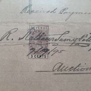 BRITISH INDIA - 1881 - QUEEN VICTORIA Court Fee Stamp on Document in Tamil - in82