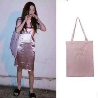 "(PO) Sunmi ""midnight circus"" silk tote bag | anh apparel"