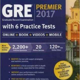 GRE Premier 2017 with 6 Practice Tests ebook
