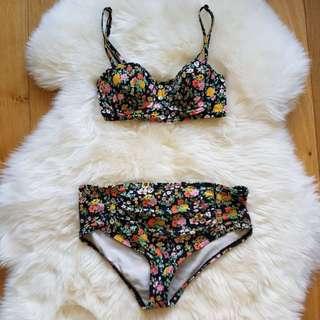Billabong Floral Bikini Set Size 10