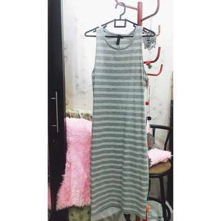 FREE ONGKIR - Cotton On Stripe Long Dress / Sleeveless