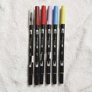 preloved tombow dual brush pens