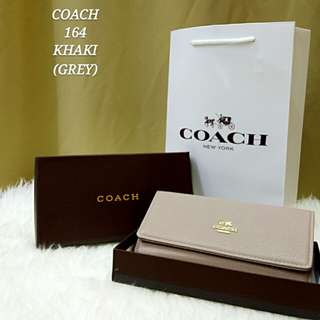 Coach Flap Purse Khaki Color