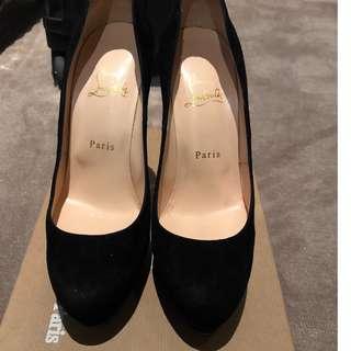 Christian Louboutin Bibi Veau Velours Shoes in Black