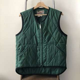 🇺🇸 Lee Green Solid Quilted Vest