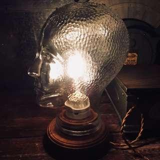 歐洲玻璃人頭燈
