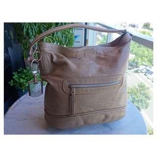 Longchamp Tan Besace Handbag