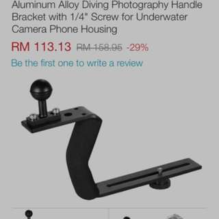 "L Metal Camera Photography Handle Bracket with 1/4"" Screw and Double Shoe Bracket"