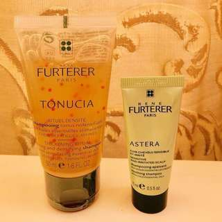 Sample - RENE FURTERER PARIS - Shampoo - for Irritated Scalp 15ml, & thinning Hair 50ml (F020)15ml,