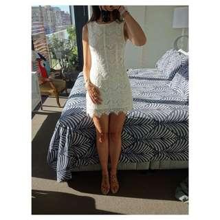 Tokito Dress - White, Very cute on, Size 8.