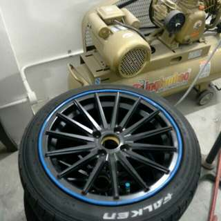 15' rim with tyre