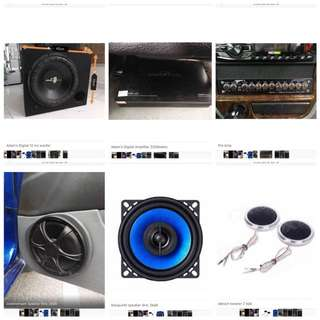 car sound system set