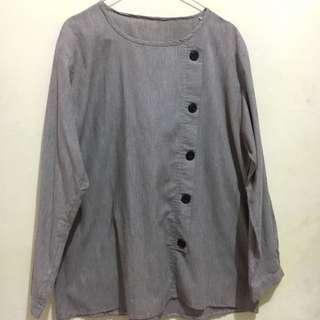 Brown long sleved blouse