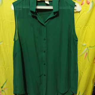 HnM sleveless green top