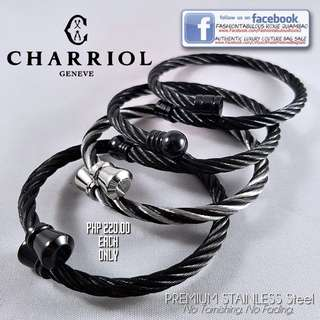 Twisted Cable Bangle inspired by Charriol