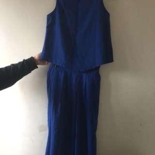 (二手)藍色套裝