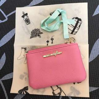 Japan maison de fleur pink cardholder wallet bag