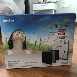 Novita Air Purifier (come with filter) no warrenty
