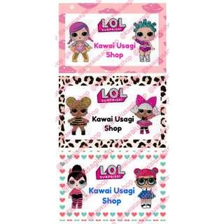 sticker LOL dolls stiker label nama seri A